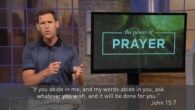 The Power Of Prayer - Pastor Robbie Symons - Our Prayers Move God