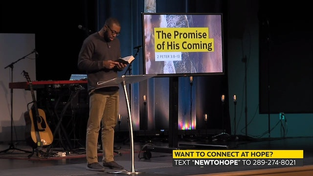 Hope Bible Church | The Promise Of His Coming