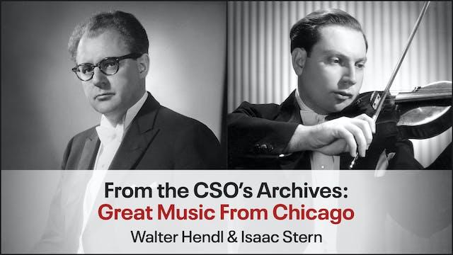 Walter Hendl & Isaac Stern