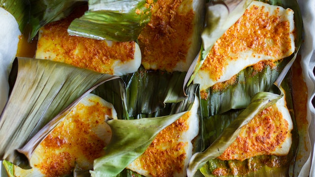 Banana Leaf Wrapped Roast FIsh