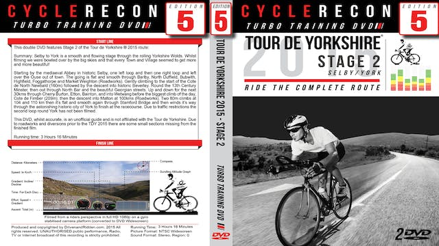 CycleRecon 5: Tour de Yorkshire 2015 - Stage 2 Selby to York - Turbo Training Download