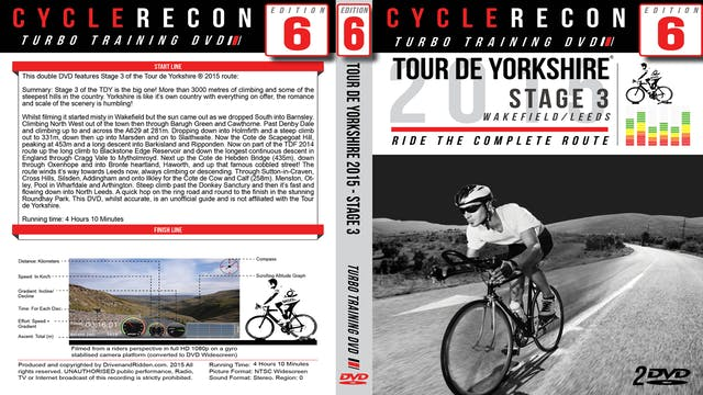 CycleRecon 6: Tour de Yorkshire 2015 - Stage 3 Wakefield to Leeds - Turbo Training Download -