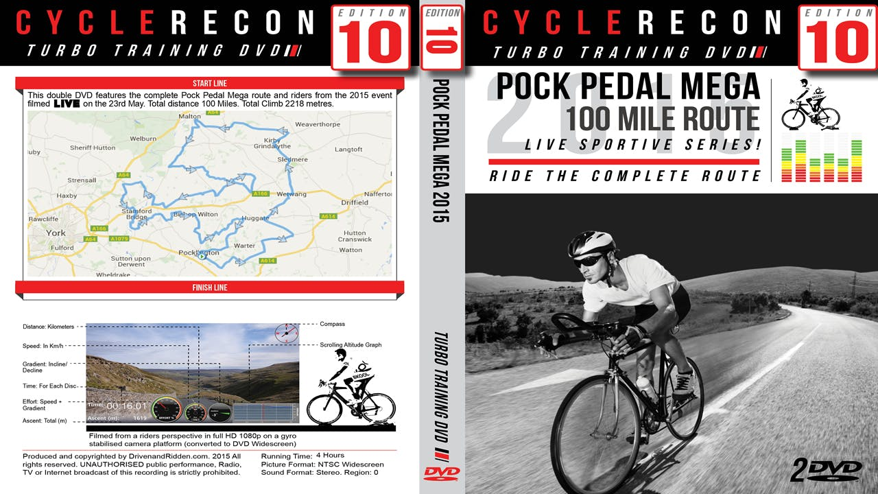 CycleRecon 10: Pock Pedal Mega 2015 - Turbo Training LIVE!