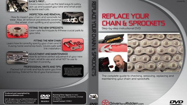 (4) REPLACE YOUR CHAIN AND SPROCKETS