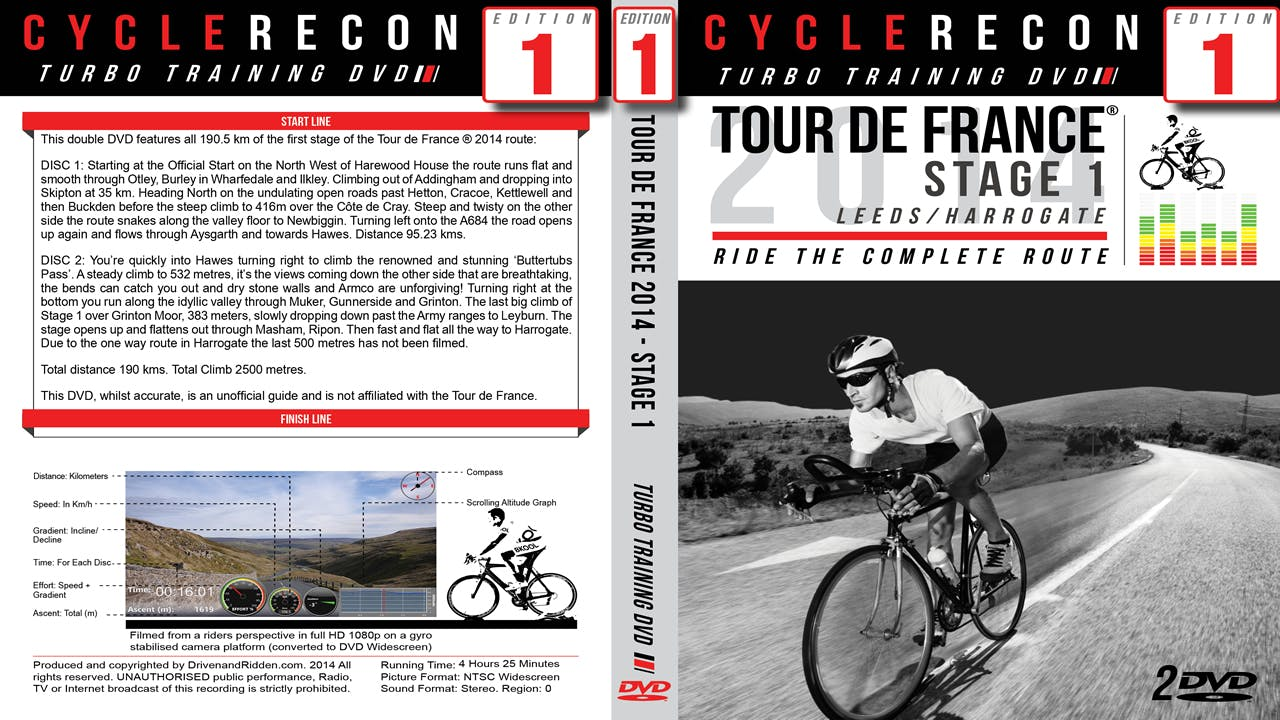 CR1: Tour de France 2014 - Stage 1 - Leeds to Harrogate - Turbo Training Film