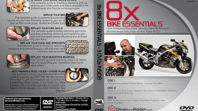 8x Bike Essentials - Over 4 Hours of Motorcyle Maintenance!