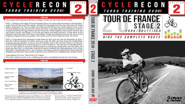 CycleRecon 2: Tour de France 2014 - Stage 2 - York to Sheffield - Turbo Training Film