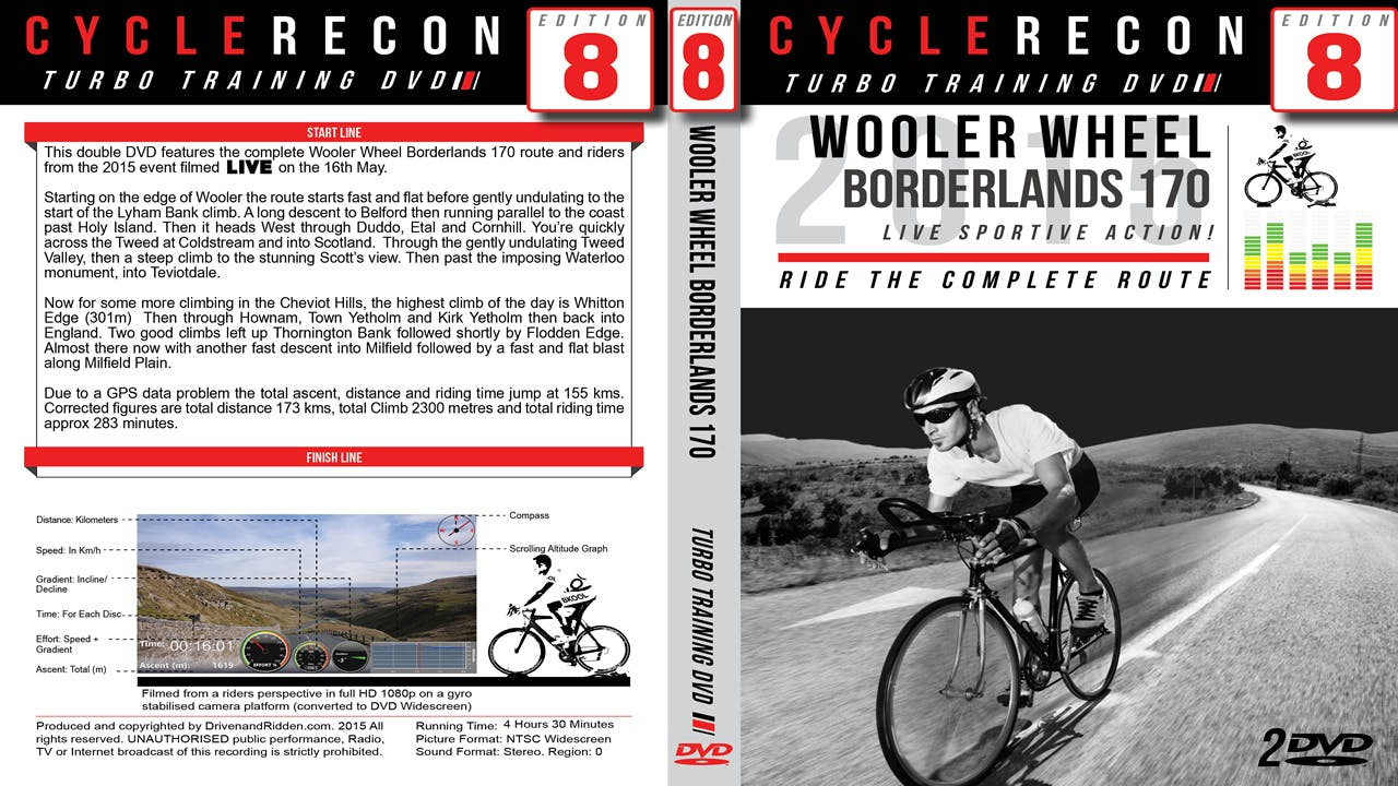 CycleRecon 8: Wooler Wheel Borderlands 2015 - Turbo Trainer LIVE!
