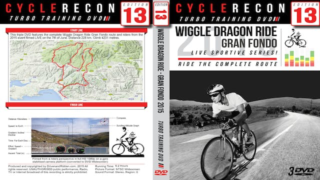 CycleRecon 13: Wiggle Dragon Ride Gran Fondo LIVE!