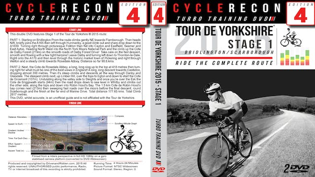 CycleRecon 4: Tour de Yorkshire 2015 - Stage 1 Bridlington to Scarborough - Turbo Training Film