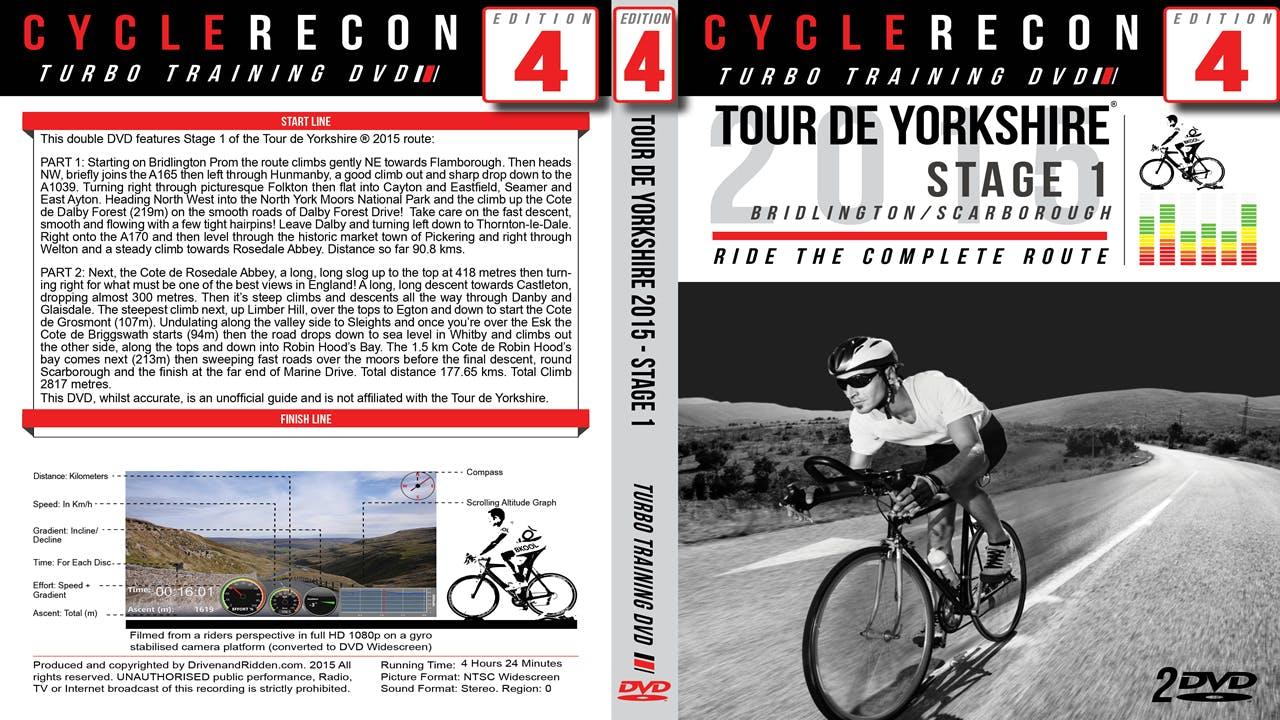 CycleRecon 4: Tour de Yorkshire 2015 - Stage 1 Bridlington to Scarborough - Turbo Training Film