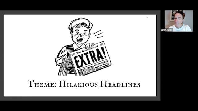 Voice Training: Hilarious Headlines (...