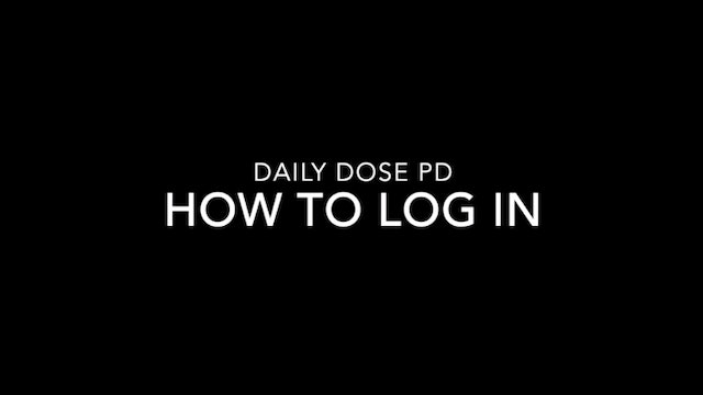 Using Daily Dose PD