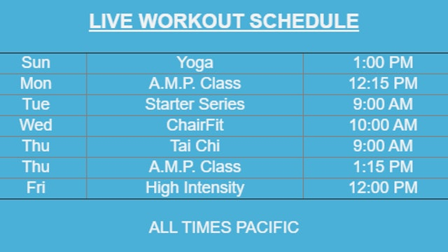Want to Workout Live?