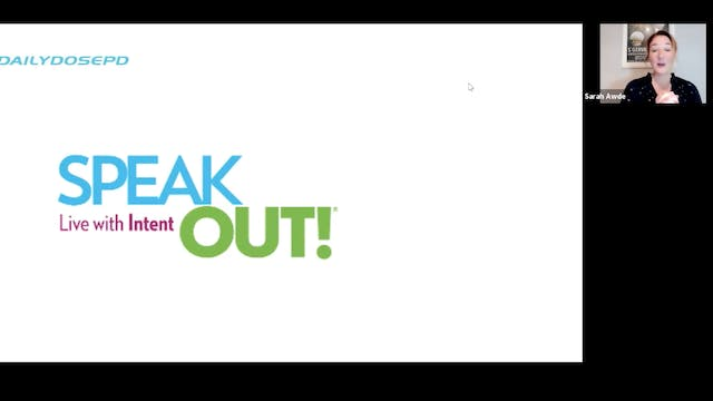 Voice Training: Speak Out... Over the...