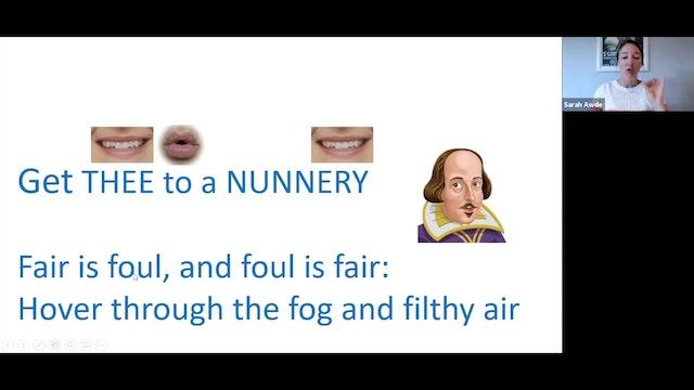 Voice Training: Shakespeare Theme (5.4.21)