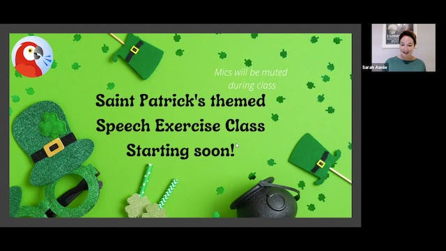 Voice Training: St. Patty's Day Theme...