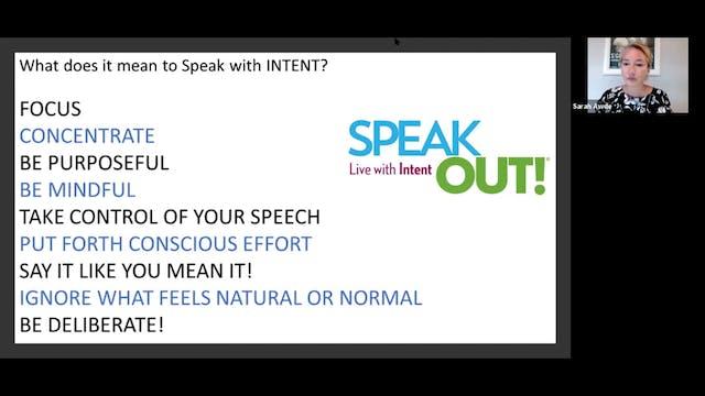 Voice Training: Speak Out! (9.22.21)