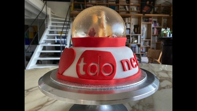 TDO Network Snow Globe Cake