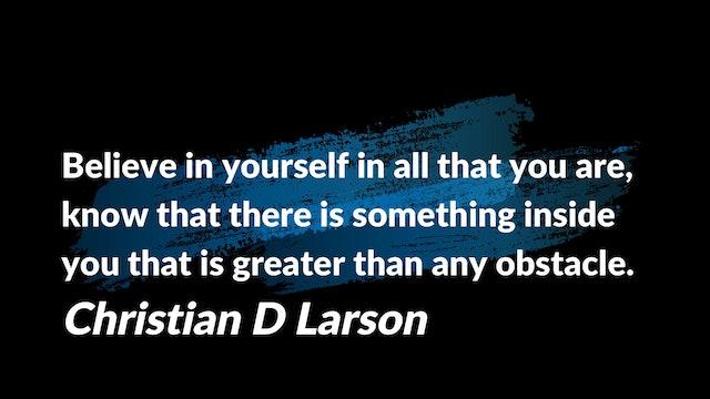 Believe In Yourself!