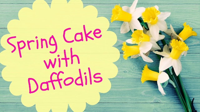 Spring Cake with Daffodils