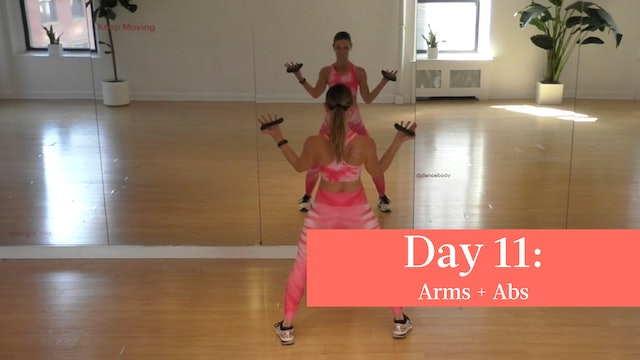 Day 11 - 008 Arms - D-Weights + 006 Abs
