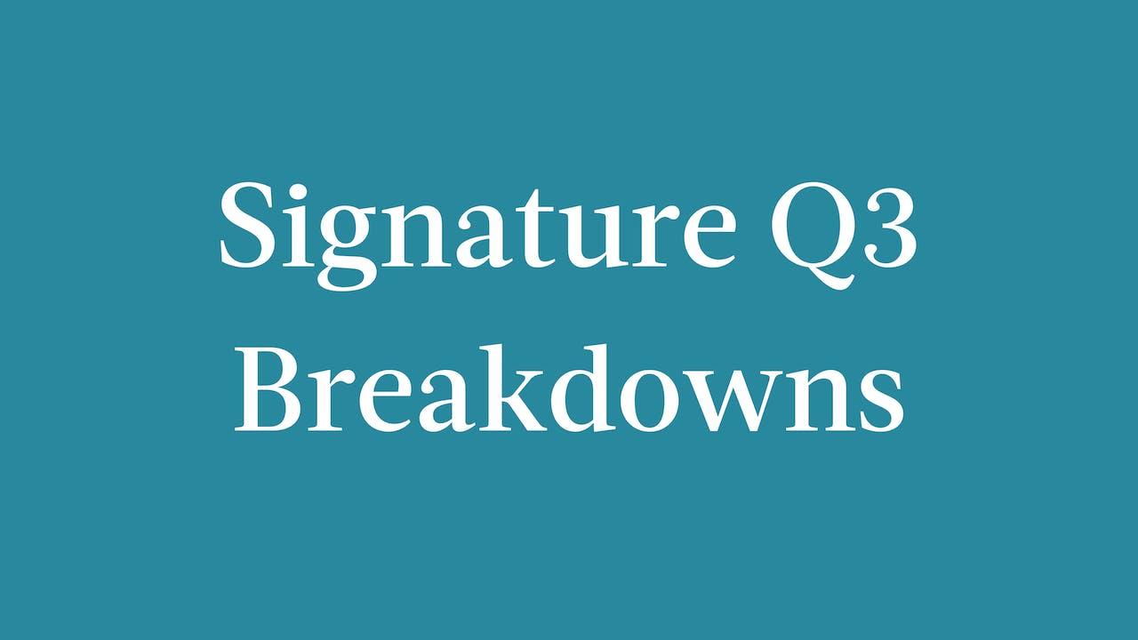 Signature Q3 2021 Breakdowns