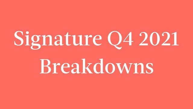 Signature Q4 2021 Breakdowns