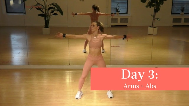 Day 3 - 003 Arms - DanceBands® + 015 Abs - Standing