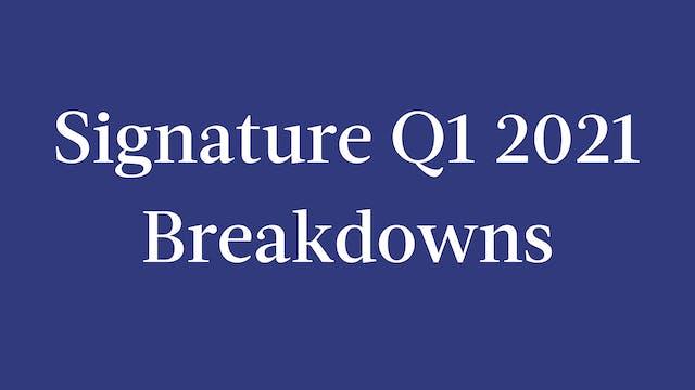 Signature Q1 2021 Breakdowns