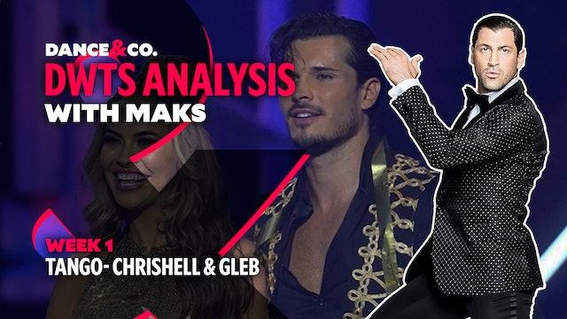 DWTS ANALYSIS: Week 1 - Chrishell Stause & Gleb Savchenko's Tango