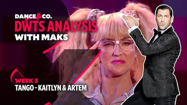 DWTS MAKS ANALYSIS: Week 5 - Kaitlyn ...