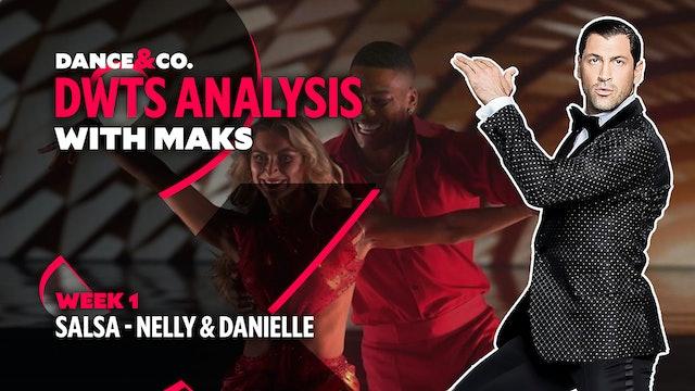 DWTS ANALYSIS: Week 1 - Nelly & Danielle Karagach's Salsa