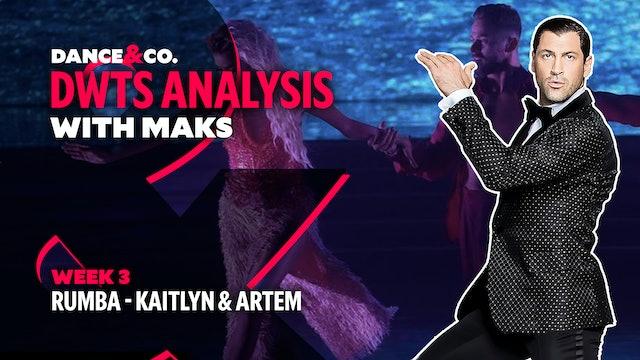 DWTS MAKS ANALYSIS: Week 3 - Kaitlyn Bristowe & Artem Chigvintsev's Rumba