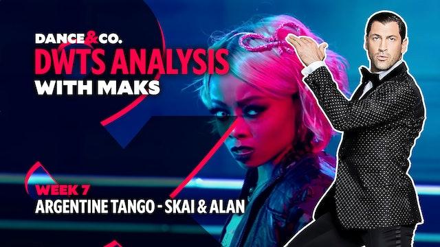 DWTS MAKS ANALYSIS: Week 7 - Skai Jackson & Alan Bersten's Argentine Tango
