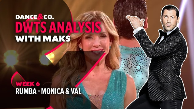 DWTS ANALYSIS: Week 6 - Monica Aldama & Valentin Chmerkovskiy's Rumba