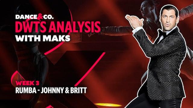 DWTS MAKS ANALYSIS: Week 3 - Johnny Weir & Britt Stewart's Rumba