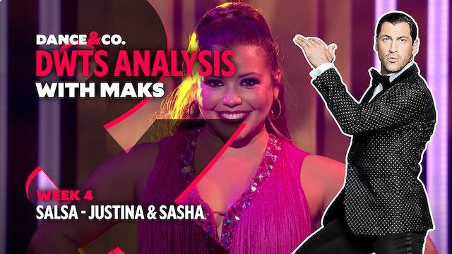 DWTS MAKS ANALYSIS: Week 4 - Justina Machado & Sasha Farber's Salsa