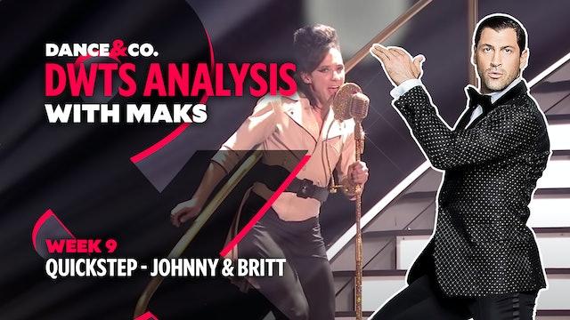 DWTS MAKS ANALYSIS: Week 9 - Johnny Weir & Britt Stewart's Quickstep