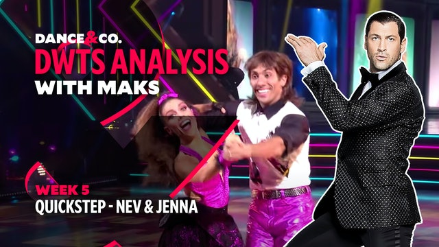 DWTS MAKS ANALYSIS: Week 5 - Nev Schulman & Jenna Johnson's Quickstep