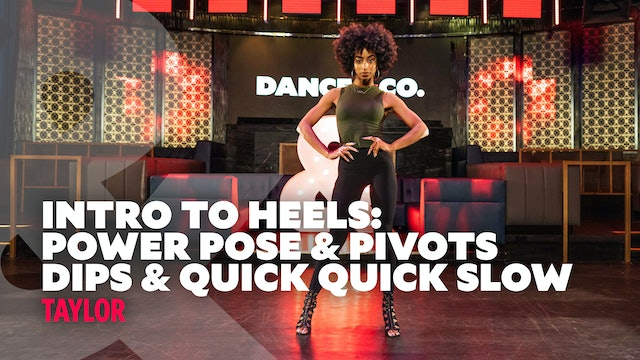 "Taylor - Intro To Heels - ""Dips"" - Level 1"