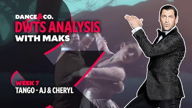 DWTS MAKS ANALYSIS: Week 7 - AJ Mclean & Cheryl Burke's Tango