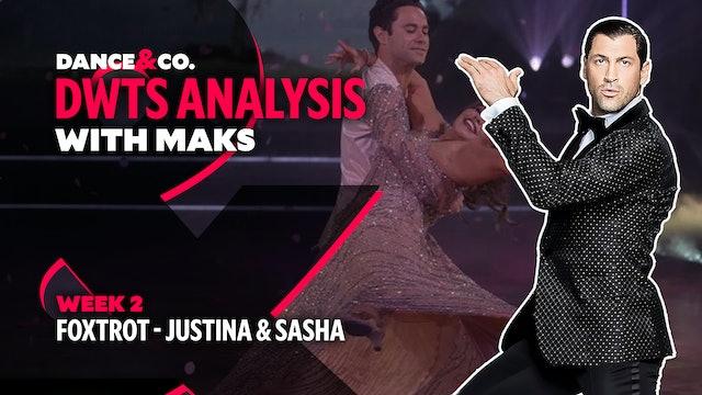 DWTS MAKS ANALYSIS: Week 2 - Justina Machado & Sasha Farber's Foxtrot