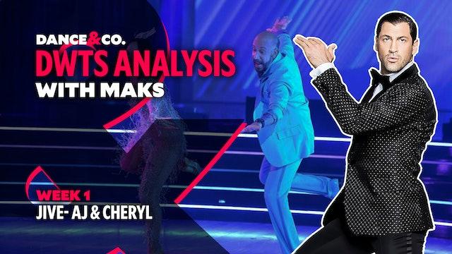 DWTS ANALYSIS: Week 1 - AJ Mclean & Cheryl Burke's Jive