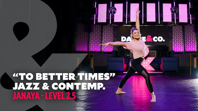 "Janaya - Jazz & Contemporary ""To Better Times"" - Level 2.5"