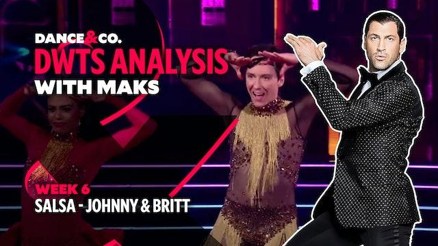 DWTS MAKS ANALYSIS: Week 6 - Johnny Weir & Britt Stewart's Salsa