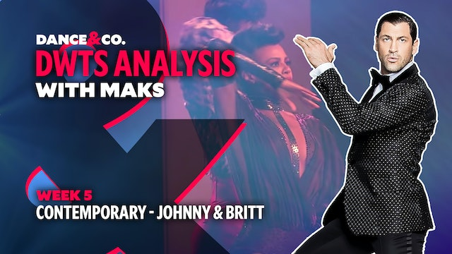 DWTS MAKS ANALYSIS: Week 5 - Johnny Weir & Britt Stewart's Contemporary