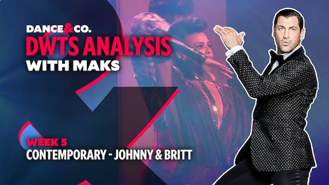 DWTS MAKS ANALYSIS: Week 5 - Johnny W...