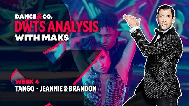 DWTS MAKS ANALYSIS: Week 4 - Jeannie Mai & Brandon Armstrong's Tango