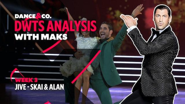 DWTS MAKS ANALYSIS: Week 3 - Skai Jackson & Alan Bersten's Jive